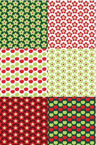 Conjunto de patrones florales de Apple