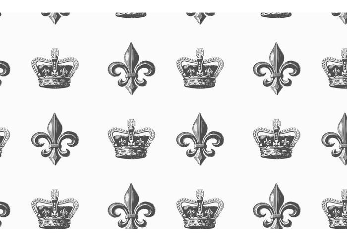 Free Heraldic Vector Seamless Pattern