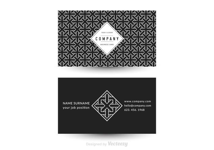 Free Vector Geometric Business Card Template Download Free - Download free business card template