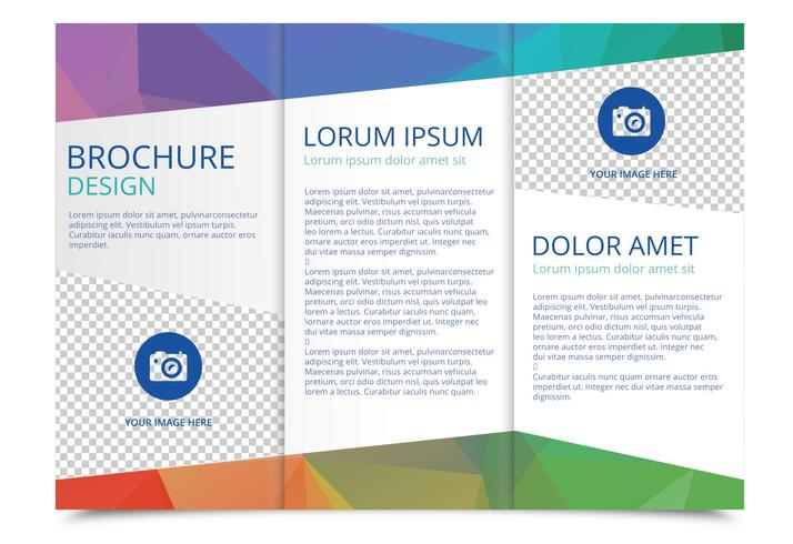 Free Tri Fold Brochure Vector Template Download Free Vector Art – Three Fold Flyer Template