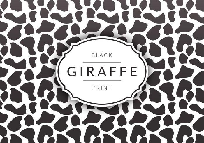 Free Black Giraffe Print Vector Background