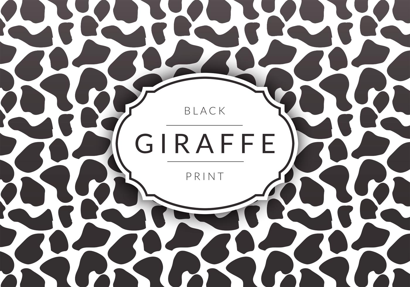 Free black giraffe print vector background download free vector art stock graphics images