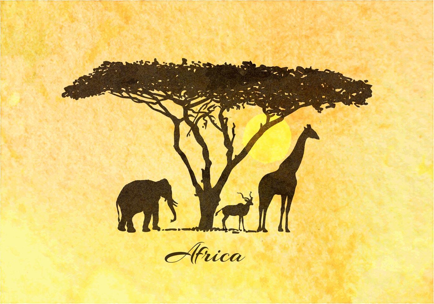 Foyer Wallpaper Kenya : Free african safari vector