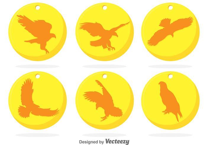 Golden Circle Eagle Badge Vectors