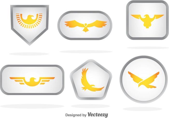Gouden Eagle Badge Vectoren