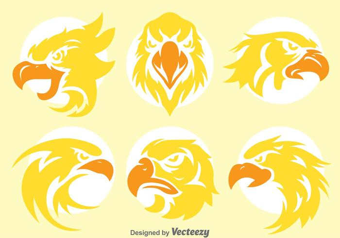Golden Eagle Head Vectors