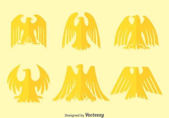 Flat Deco Golden Eagle Vectors