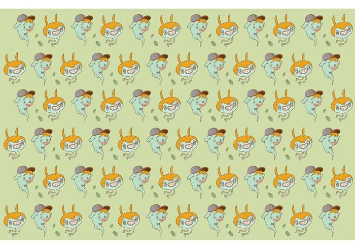 Hand Drawn Characters Pattern Vector