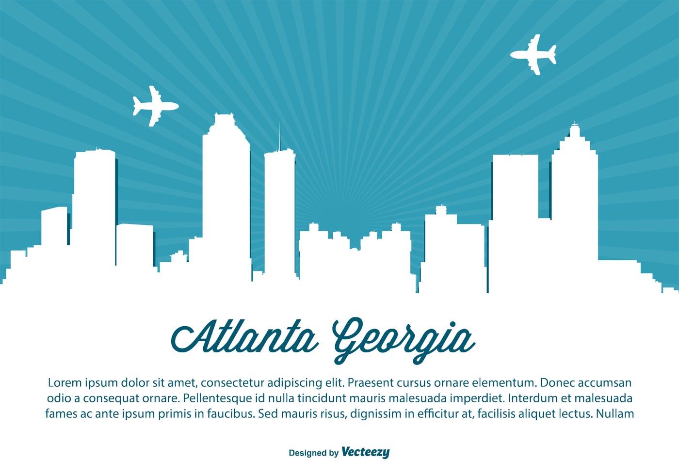 atlanta georgia skyline illustration download free Chicago Skyline Vector Boston City Skyline