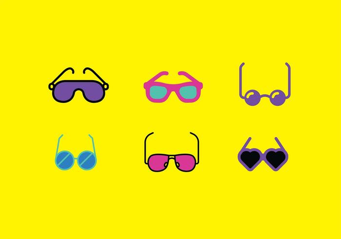 80s Sunglasses Vector Pack