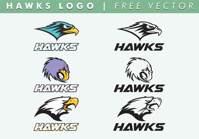 O vetor do logotipo dos hawks é gratuito