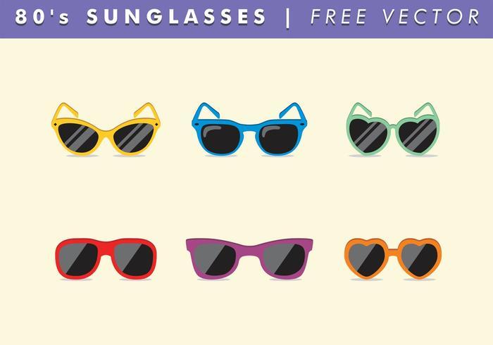 80's Sunglasses Vector Free
