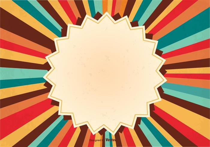 Retro Sunburst Background Illustration