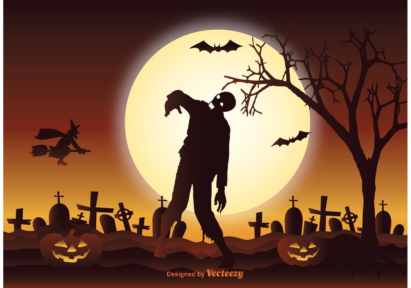 Halloween Zombie Illustration - Download Free Vector Art ...