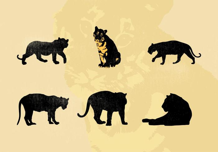 Vector Tiger Silhouettes Free