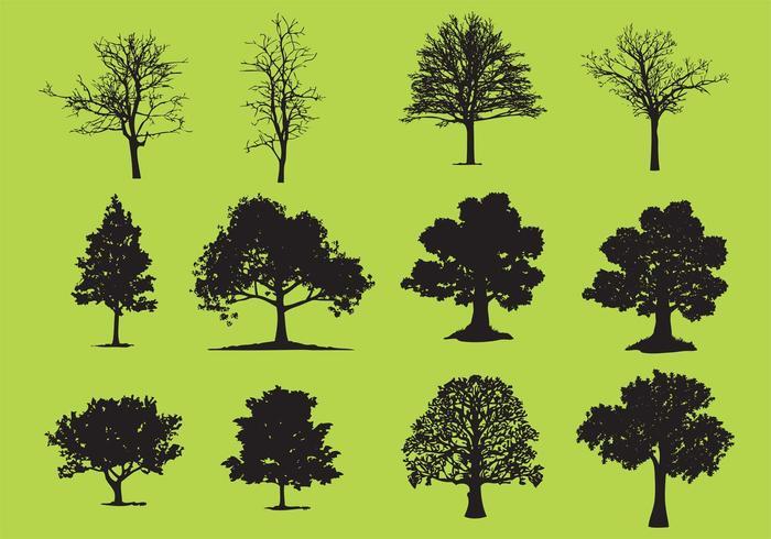 trees silhouette vectors download free vector art stock