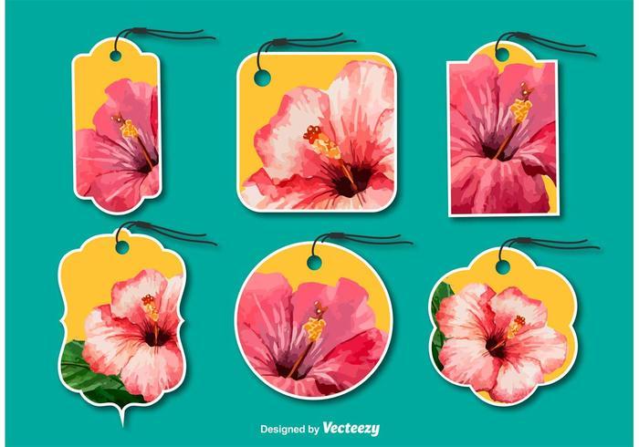 Etiquetas florales de moda vector