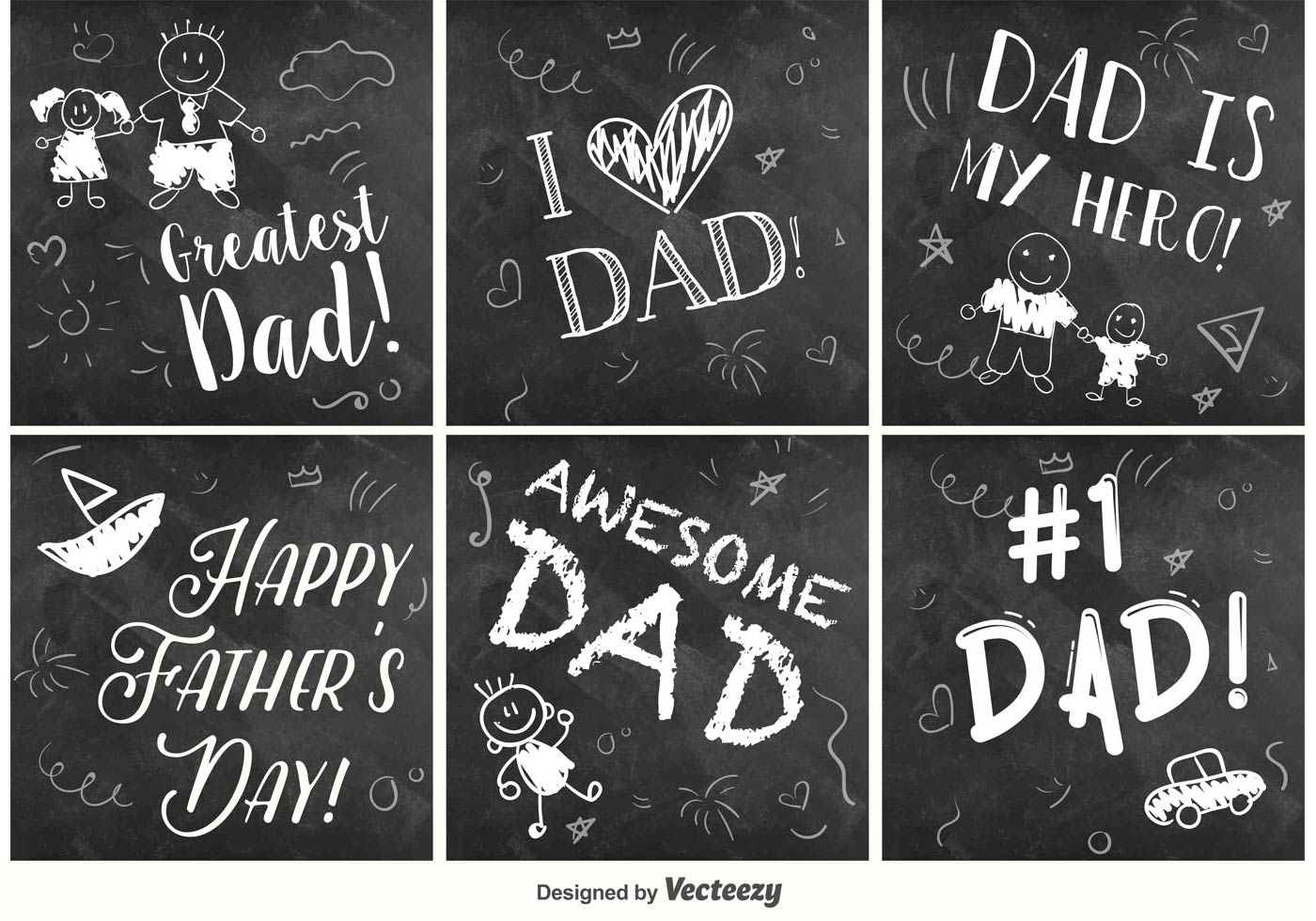 Happy Father's Day Chalkboard signs - Download Free Vector ...