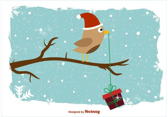 Wintery Owl Background vector