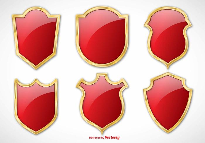 Elegant Vector Shield Set