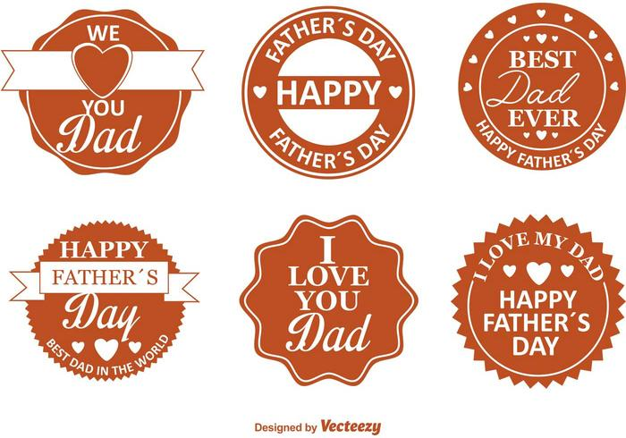 Father's Day Retro Badges