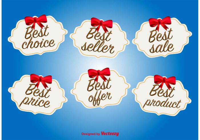 Best Offer and Deal Labels vector