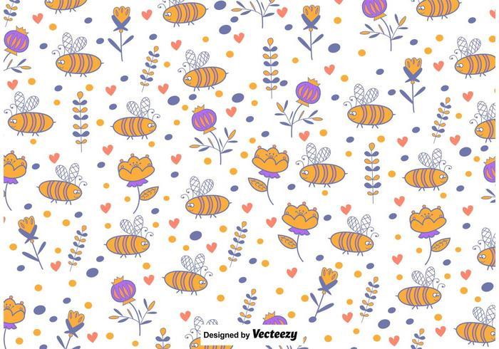 Cute Bee Background vector