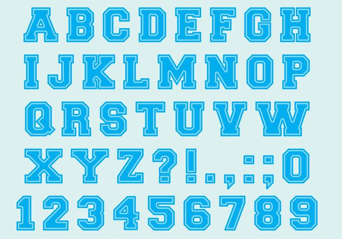 University Font Type Vectors