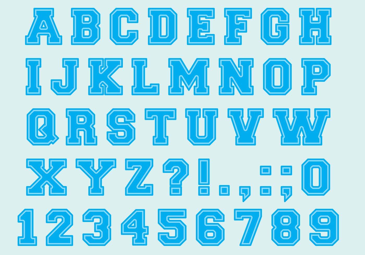 University Font Type Vectors