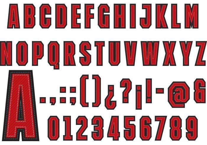 Universiteit Lettertype Vector