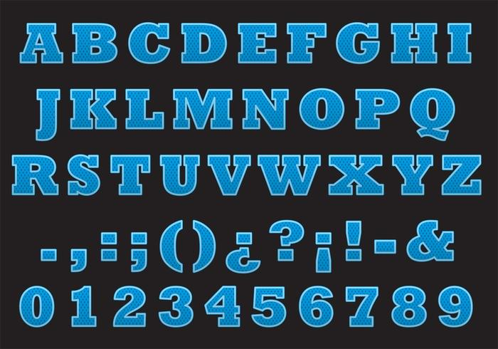 College Font Vector Type