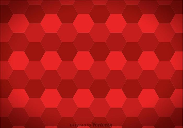 Hexagon Maroon Background Vector