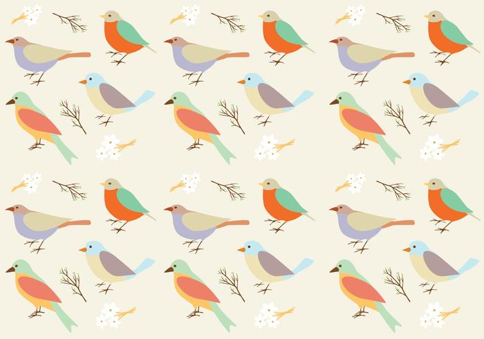 Birds Pattern Background