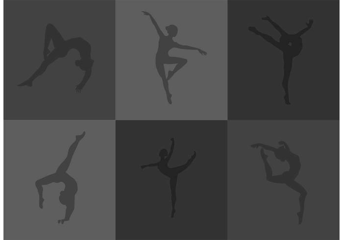 Gymnast silhouet