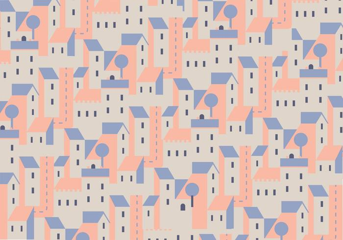 Buildings Vector Pattern