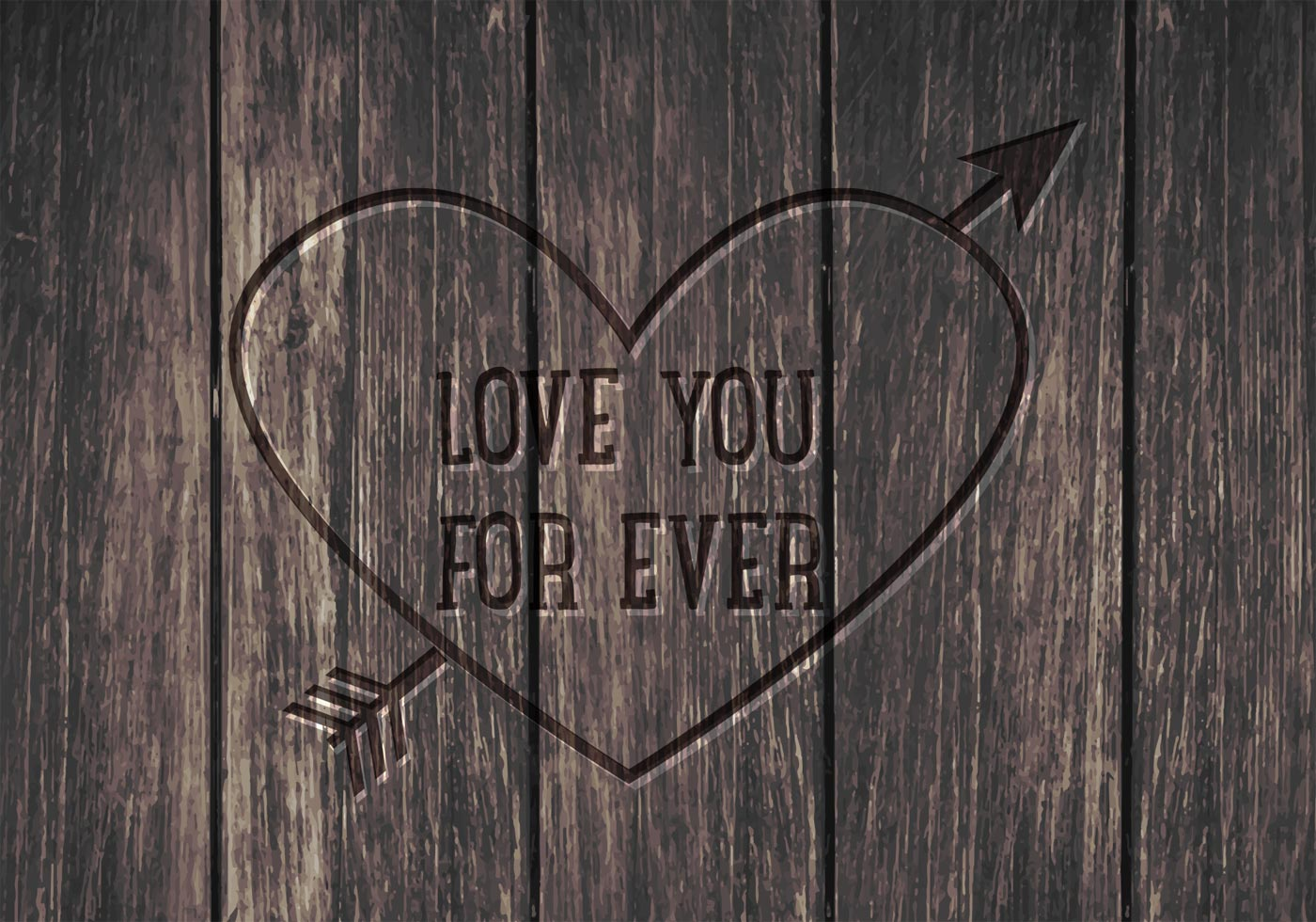 Free Love You Forever Vector Background Download