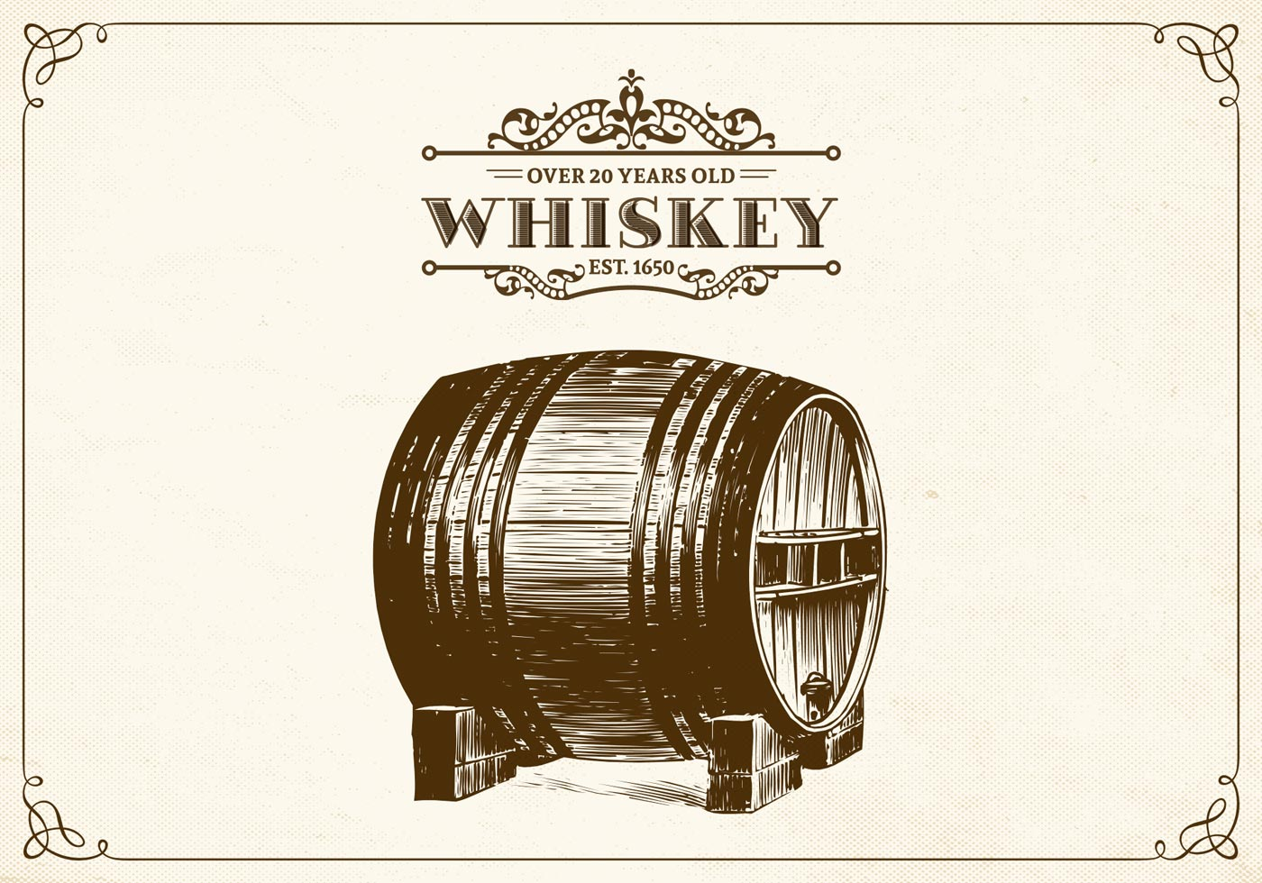 Hand Drawn Whiskey Barrel Vector Download Free Vector