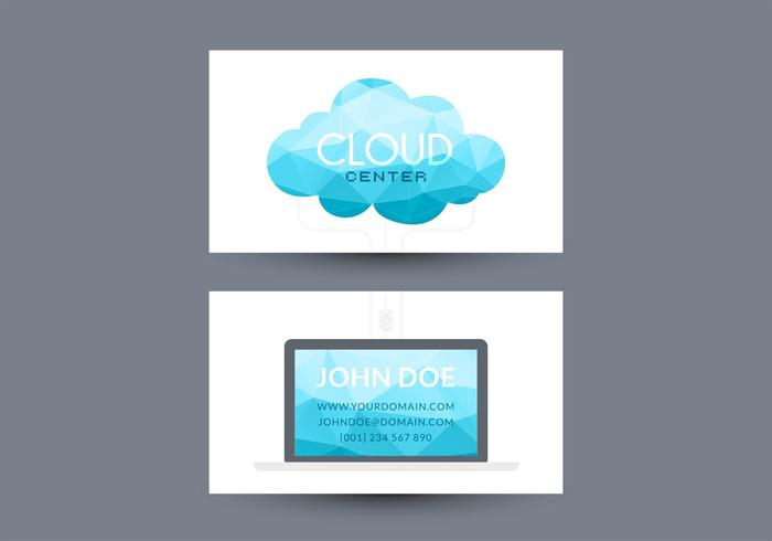 Cloud Computing Visiting Card Vector Design