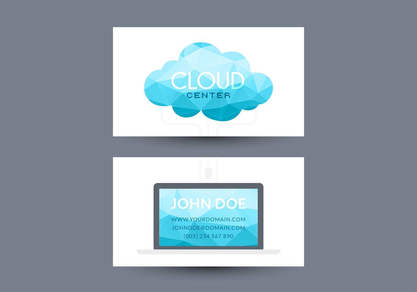 Cloud Computing Visiting Card Vector Design - Download Free Vector ...