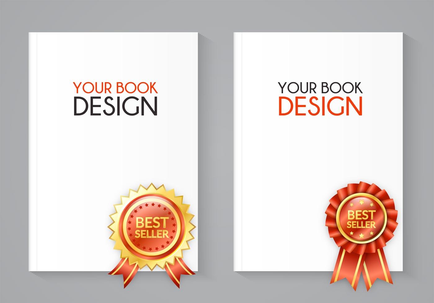 Best Book Cover Vector : Free best seller book vector set download
