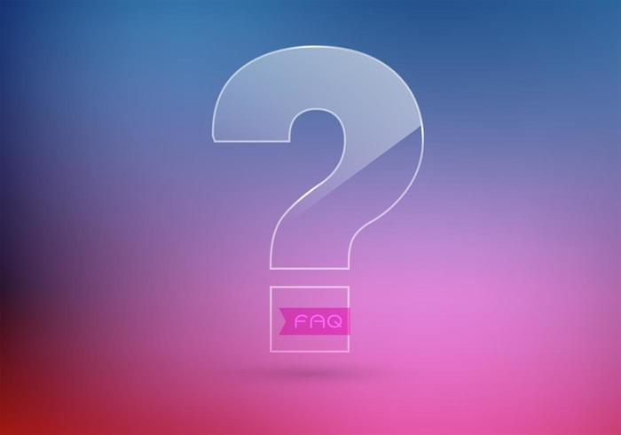 Free 3D Question Mark Vector Background