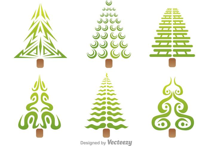 Stylized Tree Vector Icons