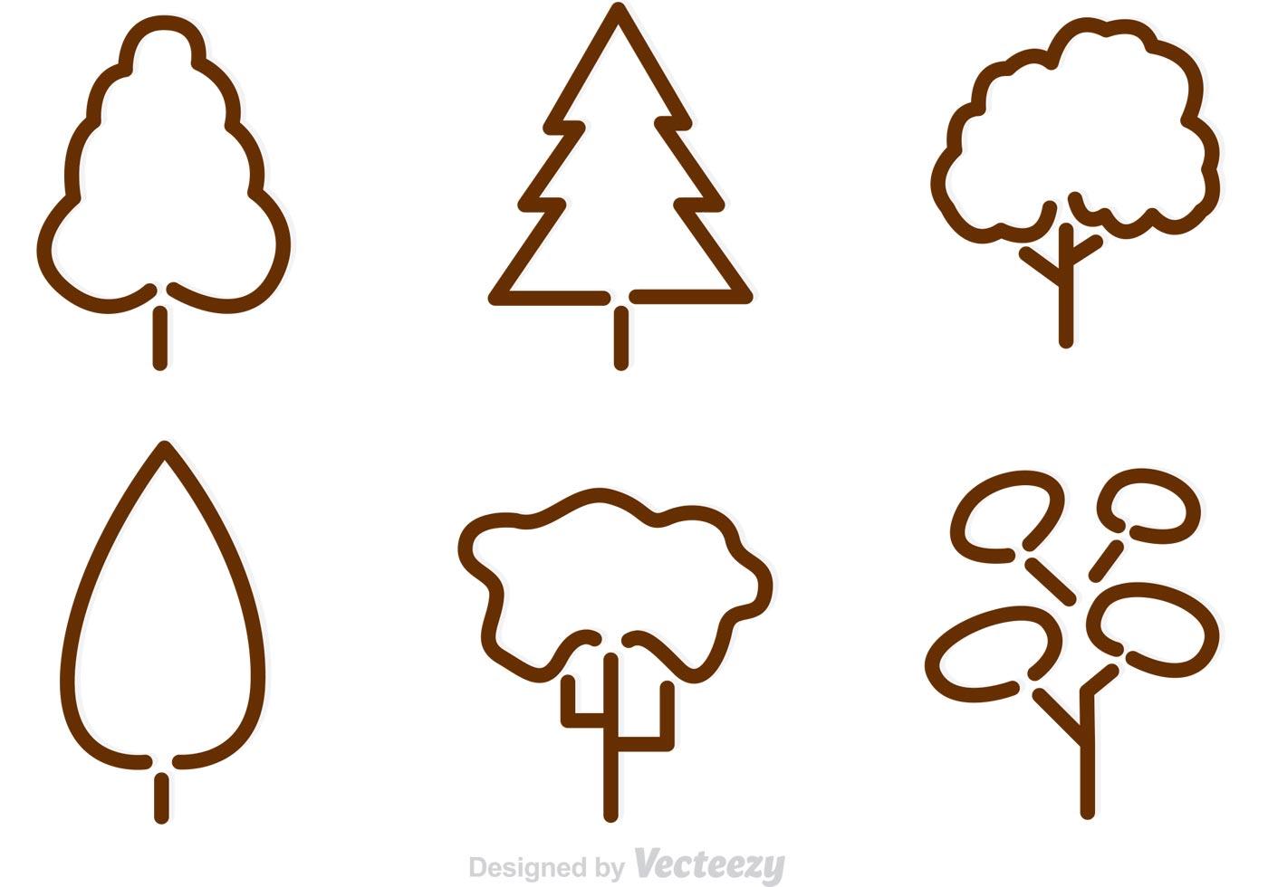 Tree Outline Vectors - Download Free Vector Art, Stock Graphics ...