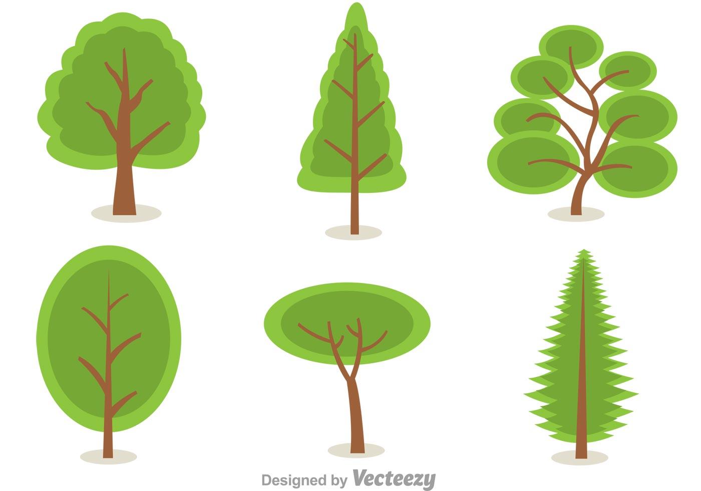 Green Tree Vectors Download Free Vector Art Stock