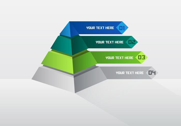 4 Bar Pyramid Chart Vector