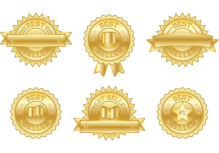 Best Seller Book Badge Vectors