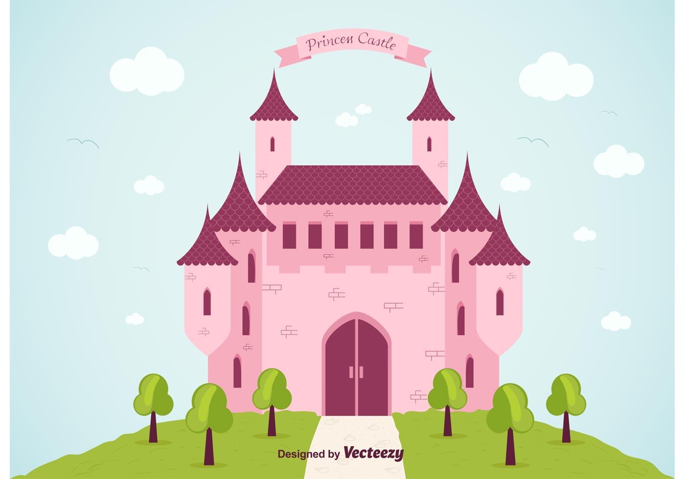 princess castle vector background download free vector