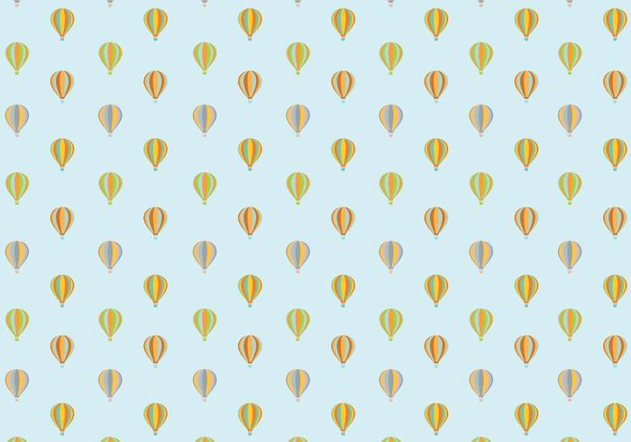 Air Balloon Pattern Background