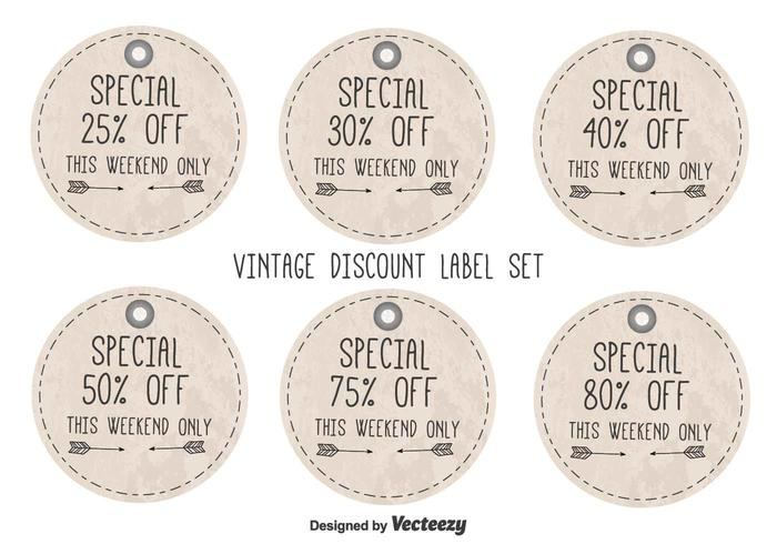Vintage Style Discount Labels