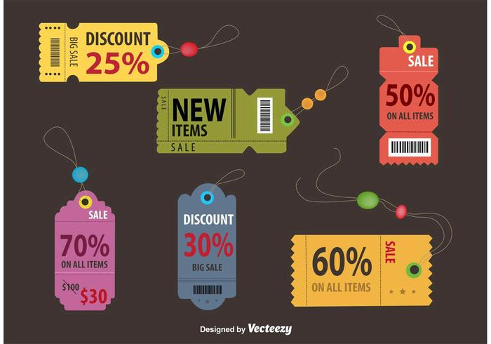 Retro Discount Coupon Tags